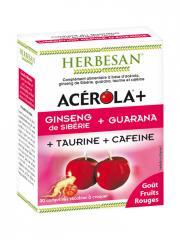 Herbesan Acérola + Ginseng + Guarana + Taurine + Caféine 30 Comprimés - Boîte 30 Comprimés