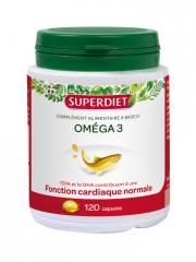 Super Diet Oméga 3 120 Capsules - Boîte plastique 120 capsules
