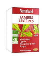 Naturland Complexe Jambes Légères Bio 90 Comprimés - Boîte plastique 90 comprimés