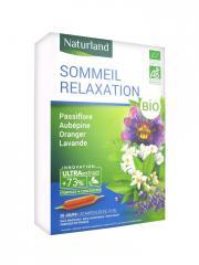Naturland Sommeil Relaxation Bio 20 Ampoules de 10 ml - Boîte 20 Ampoules de 10 ml