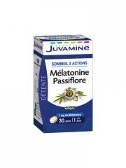 Juvamine Mélatonine Passiflore 30 Comprimés - Pilulier 30 Comprimés