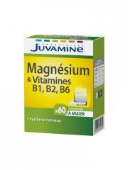 Juvamine Magnésium & Vitamines B6 B2 B1 60 Comprimés - Boîte 60 Comprimés