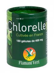 Flamant Vert Chlorelle 180 Gélules de 400 mg - Boîte 180 gélules