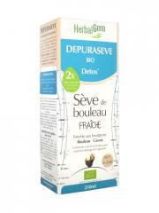 HerbalGem Depuraseve Bio Detox Sève de Bouleau Fraîche 250 ml - Flacon 250 ml