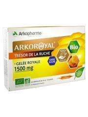 Arkopharma Arko Royal Trésor de la Ruche Gelée Royale 1500 mg Sans Sucre Bio 20 Ampoules - Boîte 20 ampoules x 10 ml