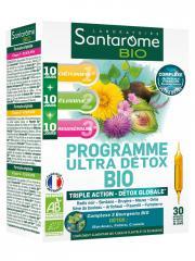Santarome Bio Programme Ultra Détox Bio 30 Ampoules - Boîte 30 Ampoules de 10 ml