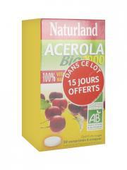 Naturland Acerola Bio 1000 Lot 2 x 30 Comprimés A Croquer - Lot 4 tubes de 15 comprimés