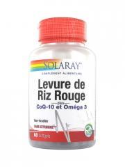 Solaray Levure de Riz Rouge Plus Coq-10 et Oméga 3 60 Gélules - Boîte 60 comprimés