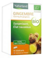 Naturland Gingembre Bio 75 Végécaps - Flacon 75 Végécaps