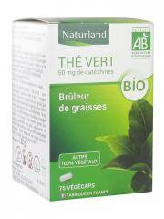 Naturland Thé Vert Bio 75 Végécaps - Boîte 75 végécaps