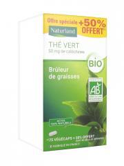 Naturland Thé Vert Bio 75 Végécaps + 38 Végécaps Offertes - Flacon 113 Végécaps