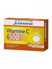 Juvamine Vitamine C 500 30 Comprimés Effervescents - Boîte 30 Comprimés
