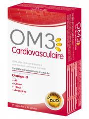 OM3 Cardiovasculaire 15 Capsules + 15 Gélules - Boîte 15 capsules + 15 gélules