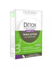 Nutreov Détox Universel Flash 5J Triple Action 10 Comprimés - Boîte 10 comprimés