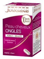 Juvamine Peau Cheveux Ongles 40 Gélules - Boîte 40 gélules