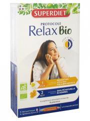 Super Diet Protocole Relax Jour & Nuit Bio 20 Ampoules - Boîte 20 ampoules x 15 ml
