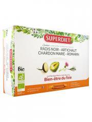 Super Diet Quatuor Chardon Marie Digestion Bio 20 Ampoules - Boîte 20 ampoules de 15 ml