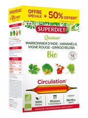 Super Diet Quatuor Vigne Rouge Circulation Bio 20 Ampoules + 10 Ampoules Offertes - Boîte 30 ampoules
