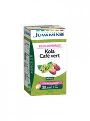Juvamine Kola Café Vert 30 Comprimés - Boîte 30 Comprimés