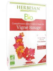 Herbesan Bio Vigne Rouge 20 Ampoules de 15 ml - Boîte 20 ampoules de 15 ml