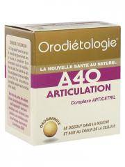 Laboratoires Zannini Orodiétologie A40 Articulation 40 Orogranules - Boîte 40 orogranules