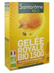 Santarome Bio Gelée Royale Bio 1500 20 Ampoules - Boîte 20 ampoules