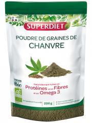 Super Diet Poudre de Graines de Chanvre Bio 200 g - Sachet 200 g