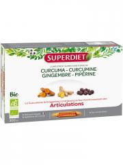 Super Diet Curcuma Curcumine Gingembre Pipérine Articulations Bio 20 Ampoules - Boîte 20 Ampoules de 15 ml