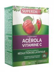 Super Diet Acérola Vitamine C 30 Comprimés Sécables - Boîte 30 Comprimés à croquer