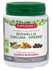 Super Diet Boswellia Curcuma Pipérine Bio 120 Gélules - Pot 120 Gélules