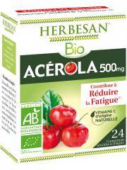 Herbesan Bio Acérola 500 mg 24 Comprimés Sécables - Boîte 24 Comprimés