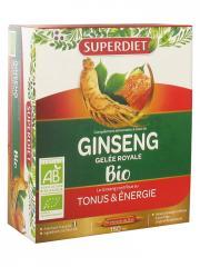 Super Diet Ginseng Gelée Royale Bio 10 Ampoules - Boîte 10 Ampoules de 15 ml