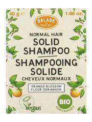 Balade en Provence Shampoing Solide Cheveux Normaux Fleur d'Oranger Bio 40 g - Boîte 1 pain de 40 g