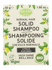 Balade en Provence Shampoing Solide Brillance Cheveux Normaux Agrumes Bio 40 g - Boîte 1 pain de 40 g