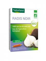 Naturland Radis Noir Bio 20 Ampoules Buvables de 10 ml - Boîte 20 Ampoules de 10 ml