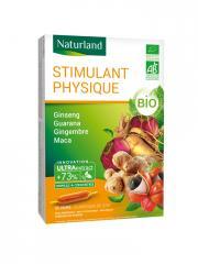 Naturland Stimulant Physique Bio 20 Ampoules de 10 ml - Boîte 20 Ampoules de 10 ml