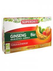 Super Diet Ginseng Gelée Royale et Acérola Bio 20 Ampoules - Boîte 20 ampoules