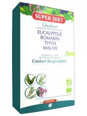 Super Diet Quatuor Eucalyptus Confort Respiratoire Bio 20 Ampoules - Boîte 20 Ampoules de 15 ml