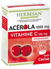 Herbesan Acérola 1000 mg Vitamine C 180 mg 30 Comprimés Effervescents - Boîte 30 Comprimés