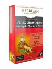 Herbesan Panax Ginseng Meyer Gelée Royale Vitamine C Acérola 20 Ampoules - Boîte 20 Ampoules de 15 ml