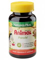 Natures Plus Animal Parade Source De Vie Enfant Arôme Cerise 60 Comprimés - Flacon 60 comprimés à croquer