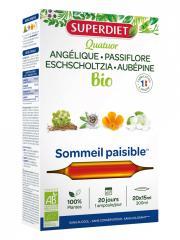 Super Diet Quatuor Passiflore Sommeil Paisible Bio 20 Ampoules - Boîte 20 ampoules de 15 ml