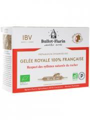 Ballot-Flurin Préparation Dynamisée Bio Gelée Royale 100% Française 10 Ampoules - Boîte 10 ampoules de 10 ml