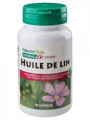 Natures Plus Herbal Actives Huile De Lin 30 Capsules - Flacon 30 capsules