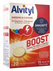 Alvityl Boost Ginseng et Caféine 20 Comprimés Effervescents - Boîte 20 Comprimés Effervescents