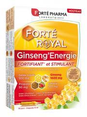 Forté Pharma Forté Royal Ginseng'Energie 20 Ampoules - Boîte 20 Ampoules de 10 ml