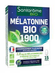Santarome Bio Mélatonine Bio 1900 15 Comprimés - Boîte 15 Comprimés