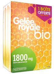 Nutrisanté Gelée Royale Bio 1800 mg Lot de 3 x 10 Ampoules - Lot 3 x 10 ampoules
