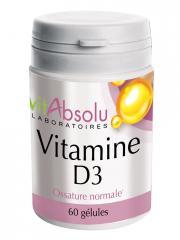 VitAbsolu Vitamine D3 60 Gélules - Pot 60 gélules