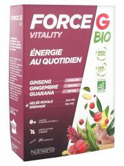 Nutrisanté Force G Vitality Énergie au Quotidien Bio 20 Ampoules - Boîte 20 ampoules x 10 ml